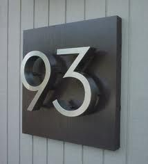 Sharp clean look with the brushed metal modern house numbers. & 25 best Huisnummers images on Pinterest | House numbers Door ...