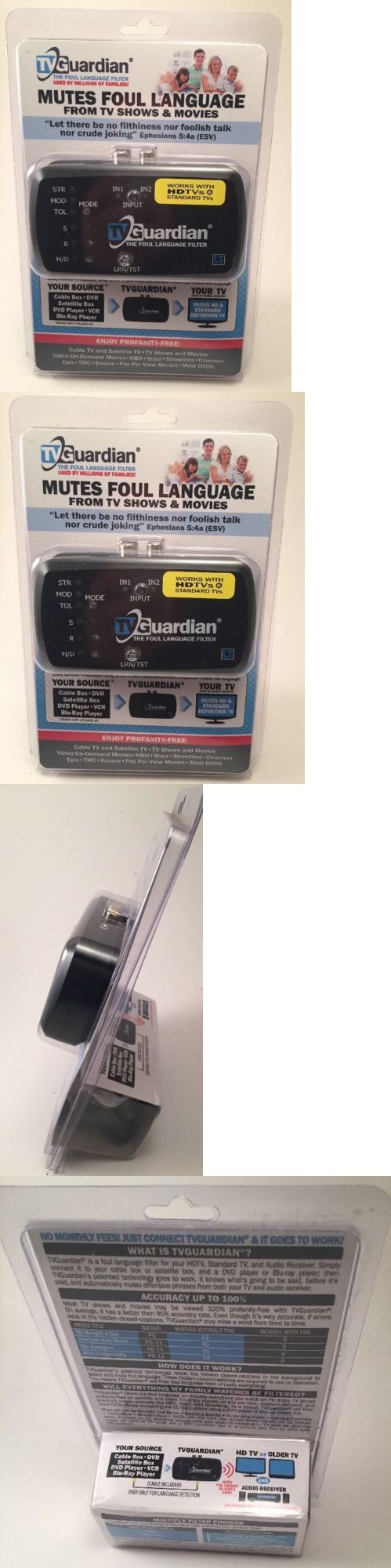 Other TV Video and Audio Accs: Tvguardian Lt - Tv And Movie Profanity Filter - Tv Guardian Mutes Foul Language BUY IT NOW ONLY: $74.99