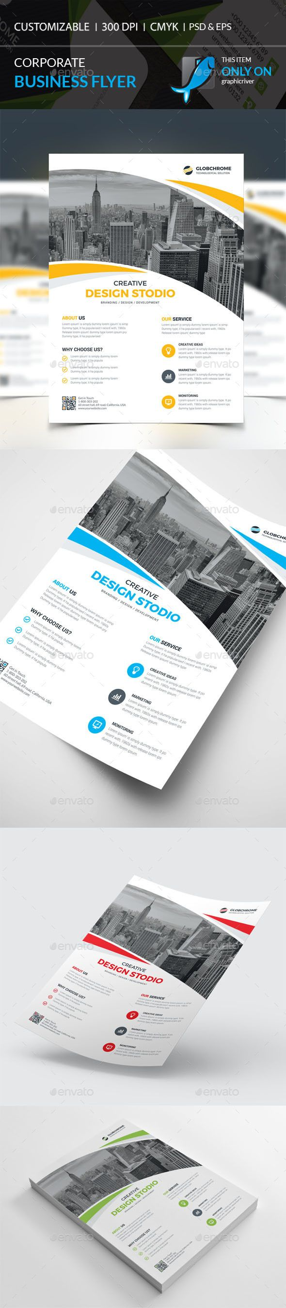 Corporate Flyer Template PSD #design Download: http://graphicriver.net/item/corporate-flyer/14109918?ref=ksioks