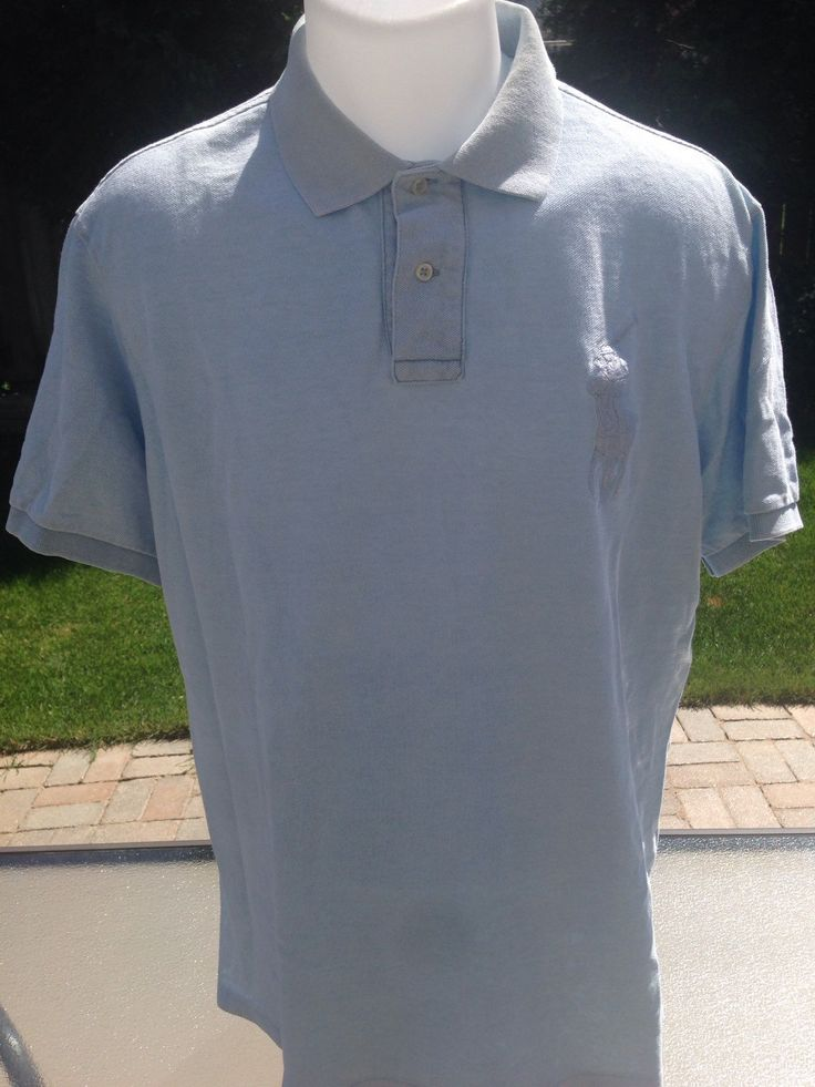 New to MajorDivision on Etsy: XL Light Blue Big Horse Polo Ralph Lauren Polo (25.00 CAD)