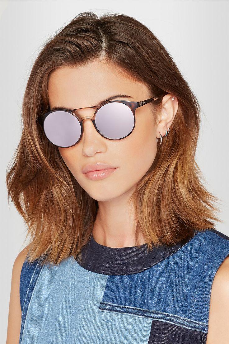 144c7167eb9b1d Le Specs   Demo Mode round-frame tortoiseshell acetate mirrored sunglasses    NET-A-PORTER.COM   GLASSES   Pinterest   Mode, Lunettes and Lunettes de  Soleil.
