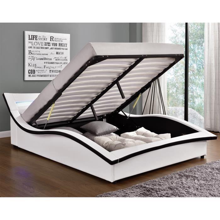 les 25 meilleures id es de la cat gorie lit coffre 160x200 sur pinterest sommier coffre. Black Bedroom Furniture Sets. Home Design Ideas
