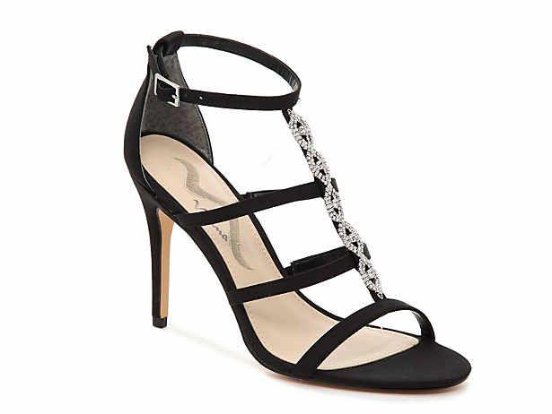 Women's Black Dress Sandals Size 10 DSW Kitten heel