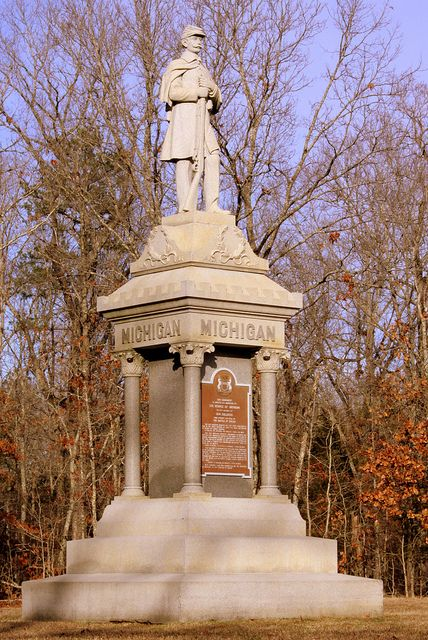 battle of shiloh monuments | Shiloh Battlefield: Michigan Monument | Flickr - Photo Sharing!