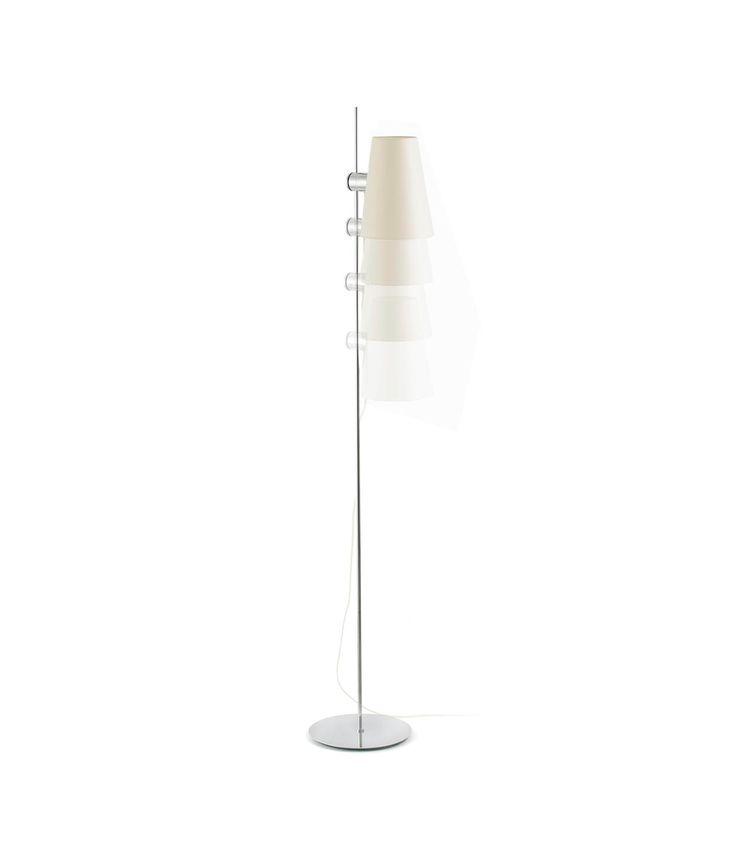 Lámpara de pie LUPE cromo detalle