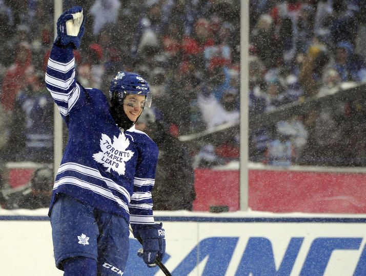 Bozak celebrating his beautiful game winning shoot out goal.  He had one hell of a game!