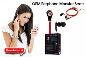 Dengarkan Musik Favoritmu Dgn Kualitas Suara Jernih, Detail & Bulat Menggunakan OEM Earphone Monster Beats Hanya Rp. 135,000 - www.evoucher.co.id #Promo #Diskon #Jual  Klik > http://evoucher.co.id/deal/OEM-Earphone-Monster-Beats-Desember-2013  Kualitas suara musik yang kamu dengarkan akan Lebih Jernih, Detail & Bulat Menggunakan OEM Earphone Monster beats ini. Gunakan Earphone ini dan nikmati musik favoritmu dengan kualitas suara terbaik.  Pengiriman mulai tanggal 2014-