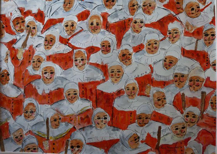 Gilles de Binche - Les masques I
