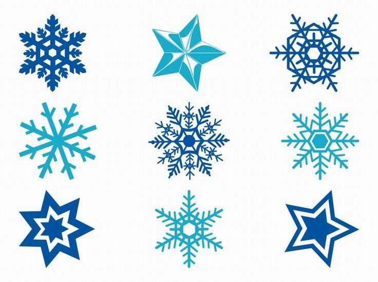 Free Vector. Estrellas y copos de nieve.