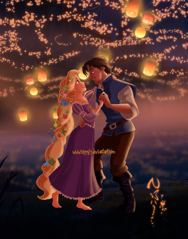 Dancing in the Lights... (I JUST LOVE TANGLED FAN ART! 2nd favorite behind the Toy Story trilogy)