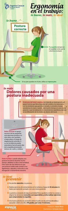 Si tu trabajo implica permanecer sentado frente a un computador mucho tiempo debes tener cuidado con tu postura para evitar dolores y futuros problemas de salud