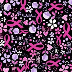 Life Hope Amp Healing Breast Cancer Awareness Fleece Fabric