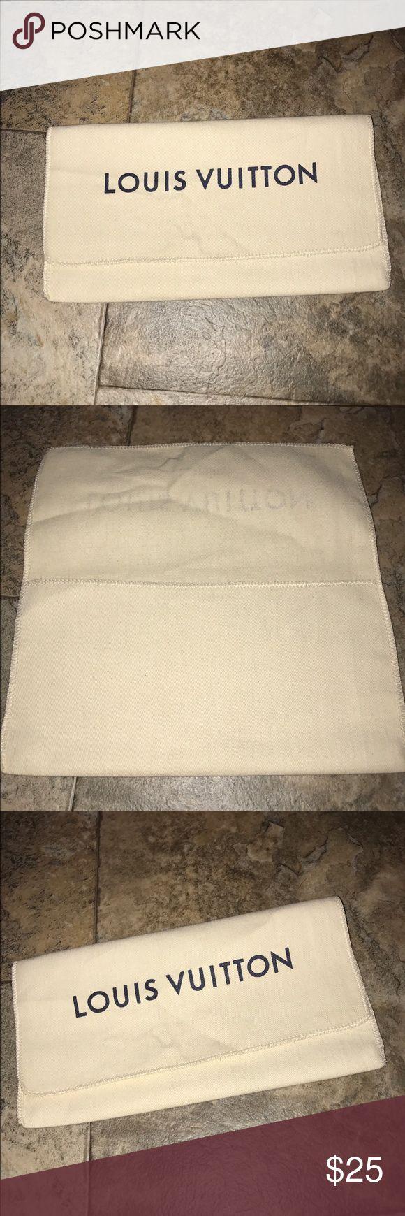 Louis Vuitton wallet dust bag new ! Louis Vuitton wallet dust bag new !  9 by 5 inches Louis Vuitton Bags Cosmetic Bags & Cases