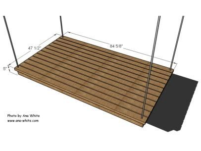 Diagram of Swinging Outdoor Daybed