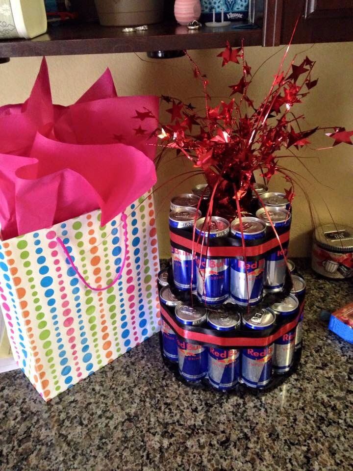 Red Bull Flavored Cake