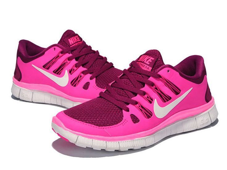 Raspberry Red Summit White Pink Foil Nike Free 5.0 Women's Running Shoes # Red #Womens