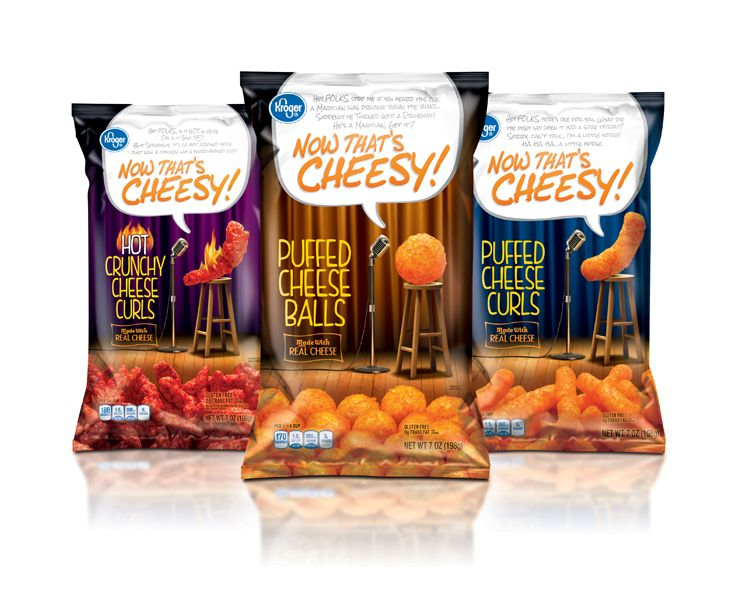 Puffed Cheese - Packaging designed by Design Resource Center http://www.drcchicago.com/