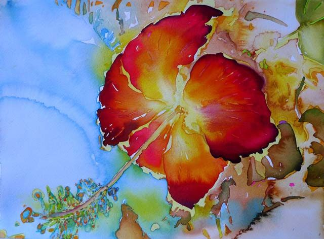 Hibiscus watercolor by Carol Carter