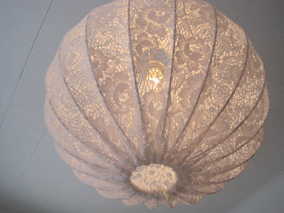 just love it!: Pendants Lamps, Shabby Chic Style, Paper Doilies, Lace Lamps, Shabby Chic Kitchens, Pendants Lights, Lamps Pendants, Design Home, Lights Fixture