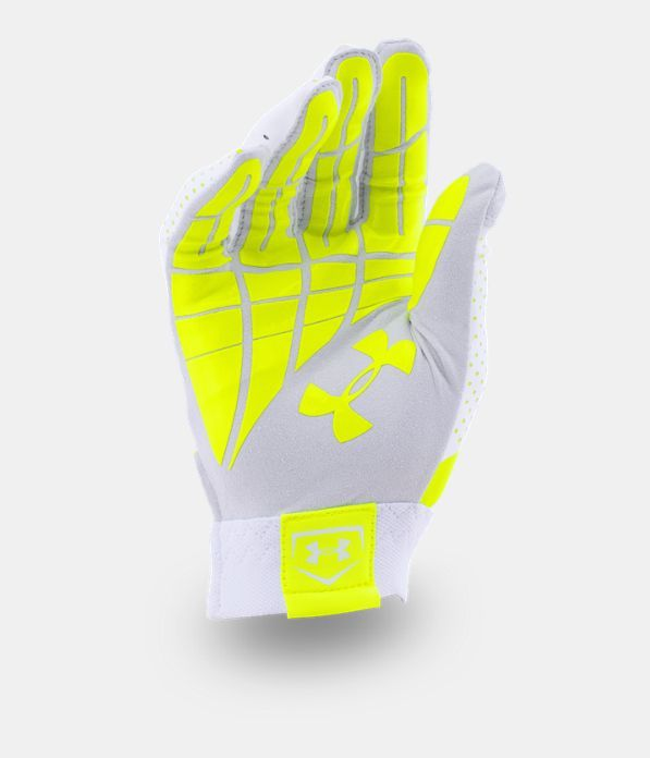 Women's UA Motive Fastpitch Batting Gloves, High-Vis Yellow