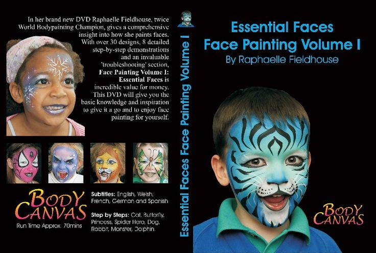 Face Painting Volume 1 : Essential Faces (DVD) by Raphaelle Fieldhouse £19:99