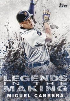 2018 Topps - Legends in the Making #LTM-MC Miguel Cabrera Front
