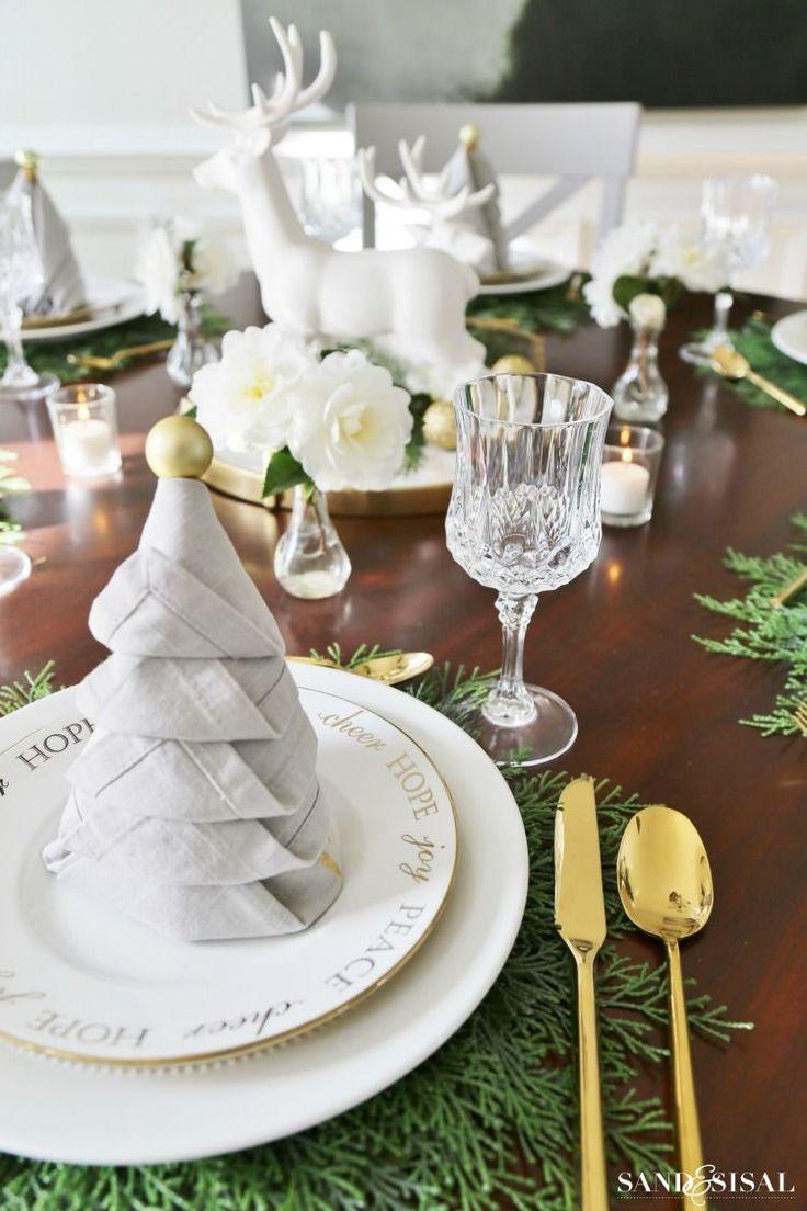 Folded fabric christmas tree pattern - Christmas Tree Napkin Fold Tutorial