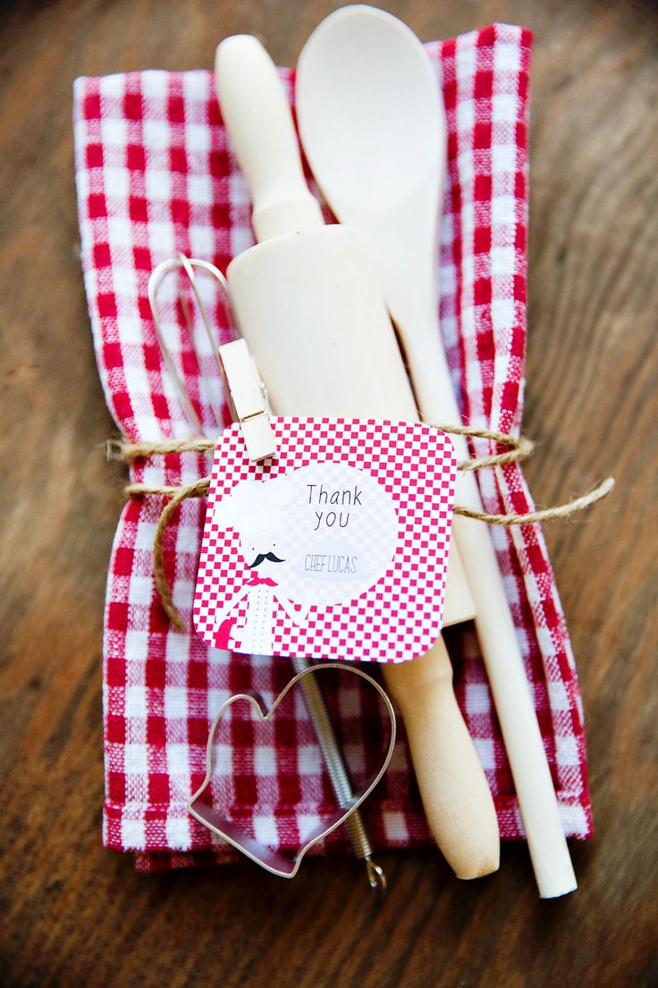 Modern Bistro Inspired Top Chef Birthday Party-Favors