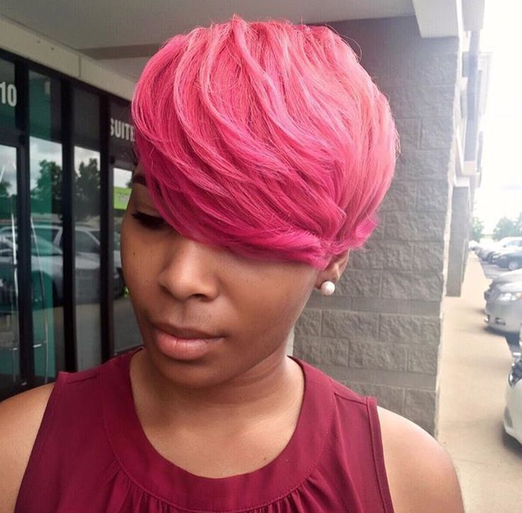 Really cute pink pixie by @scissorhappychante  Read the article here - http://blackhairinformation.com/hairstyle-gallery/really-cute-pink-pixie-scissorhappychante/