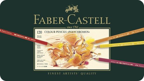 Faber-Castell Polychromos Colored Pencils are arguably one of the most popular sets of oil colored pencils in the art world and for good reason. Despite being an oil core, Faber-Castell is able to emulate the creamy texture you are used to seeing in a wax core but with the added benefits of not having to deal with wax bloom and also having excellent lightfastness. Some of the best colored pencils for coloring books!