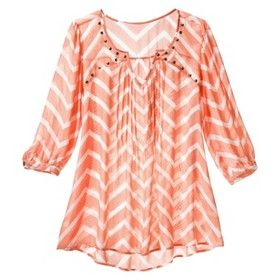 Women's Plus-Size Chevron Top - Daylily