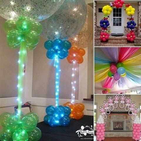34 best home decoration diy images on pinterest creative for Home decorations with balloons