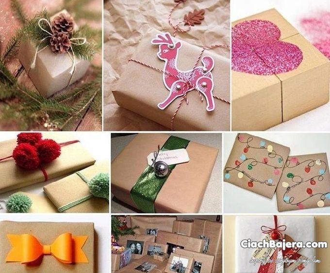 różne inspiracje pakowania prezentów