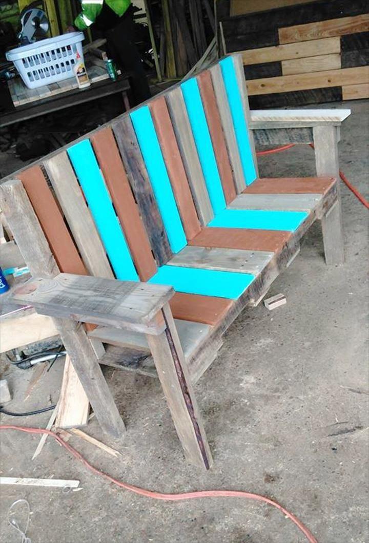 Pallet Garden Bench Seat | 101 Pallets