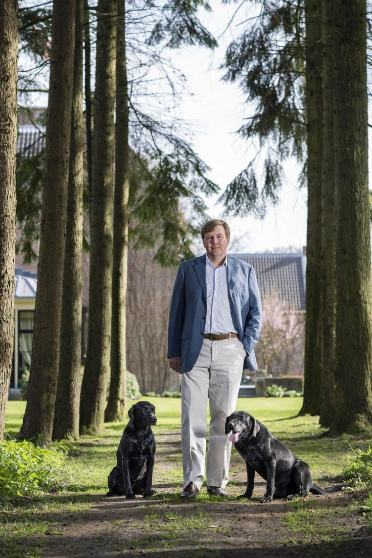 King Willem-Alexander 50 years. Official portraits at garden of Villa Eikenhorst, Wassenaar. April 27, 2017