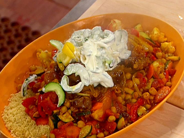 Moroccan Lamb Tagine with Honey and Apricots recipe from Emeril Lagasse via Food Network