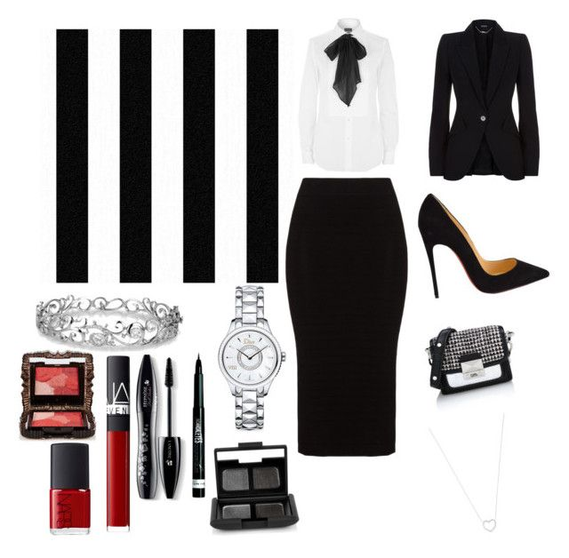 """""""Untitled #14"""" by evelin-pap on Polyvore featuring beauty, Graham & Brown, Mat, Polo Ralph Lauren, Christian Louboutin, Karl Lagerfeld, Alexander McQueen, Effy Jewelry, Christian Dior and Tiffany & Co."""