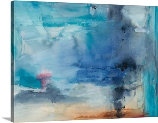 Greatbigcanvas see more a contemporary abstract painting using predominantly blue tones out to sea wall art