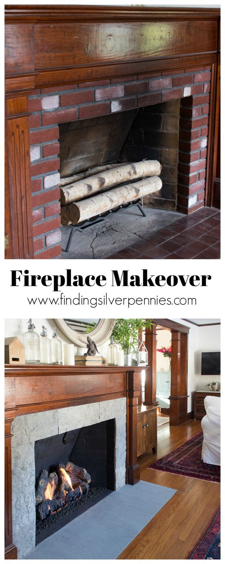 Fireplace makeover dyi decor pinterest diy wooden diy and