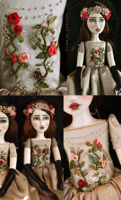 Art Dolls / Handmade Art Doll~Image © Christine Alvarado, Du Buh Du Designs, 2016