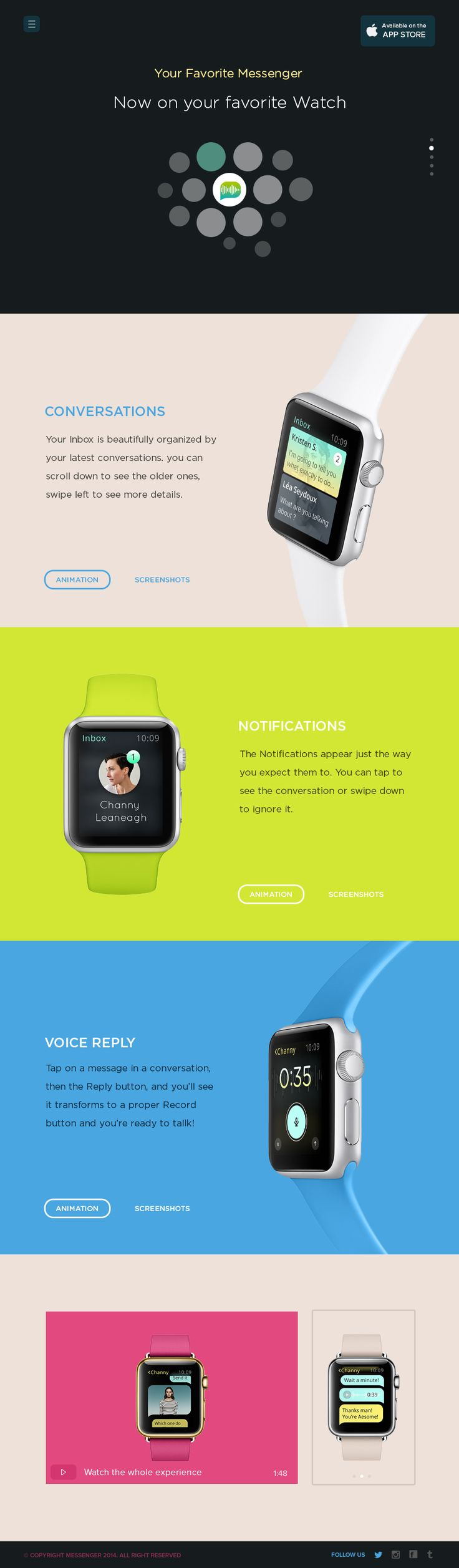Messenger_for_apple_watch_landing_page_by_ehsan_rahimi