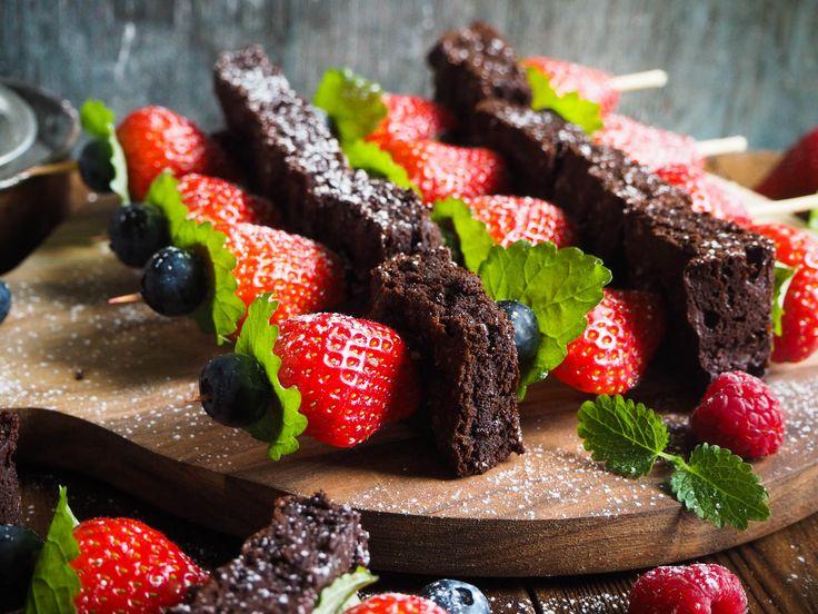 Brownie og jordbærpyd_P4230054