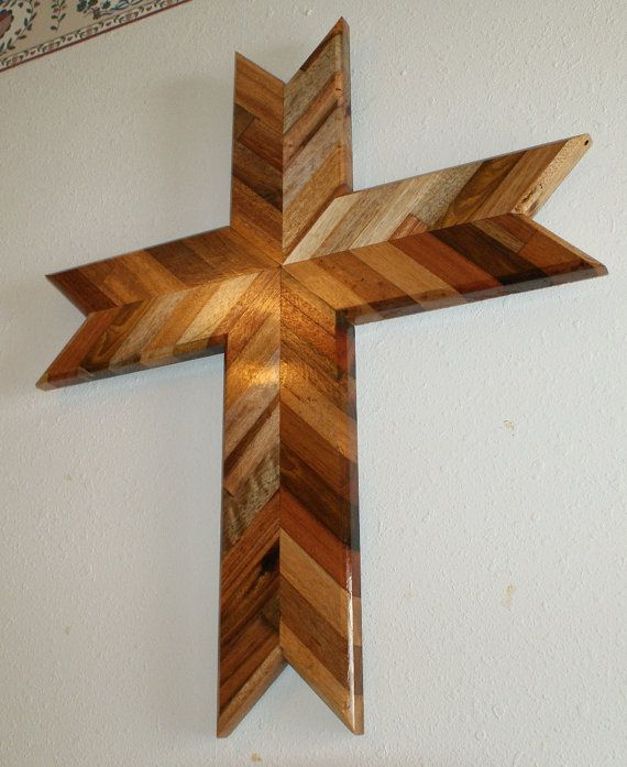 Hand made Oak wall cross by WoodYouCreations on Etsy, $140.00