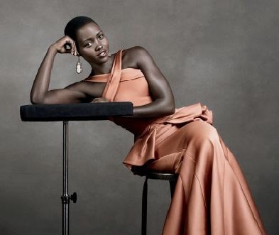 Lupita Nyong'o in Zac Posen for the November Issue of Vogue US.