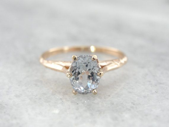 Fine Pale Lavender Sapphire #Ring in Rose Gold.                                                                                                                                                                                 More