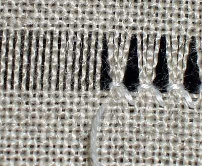 Hemstitch in Drawn Thread Embroidery