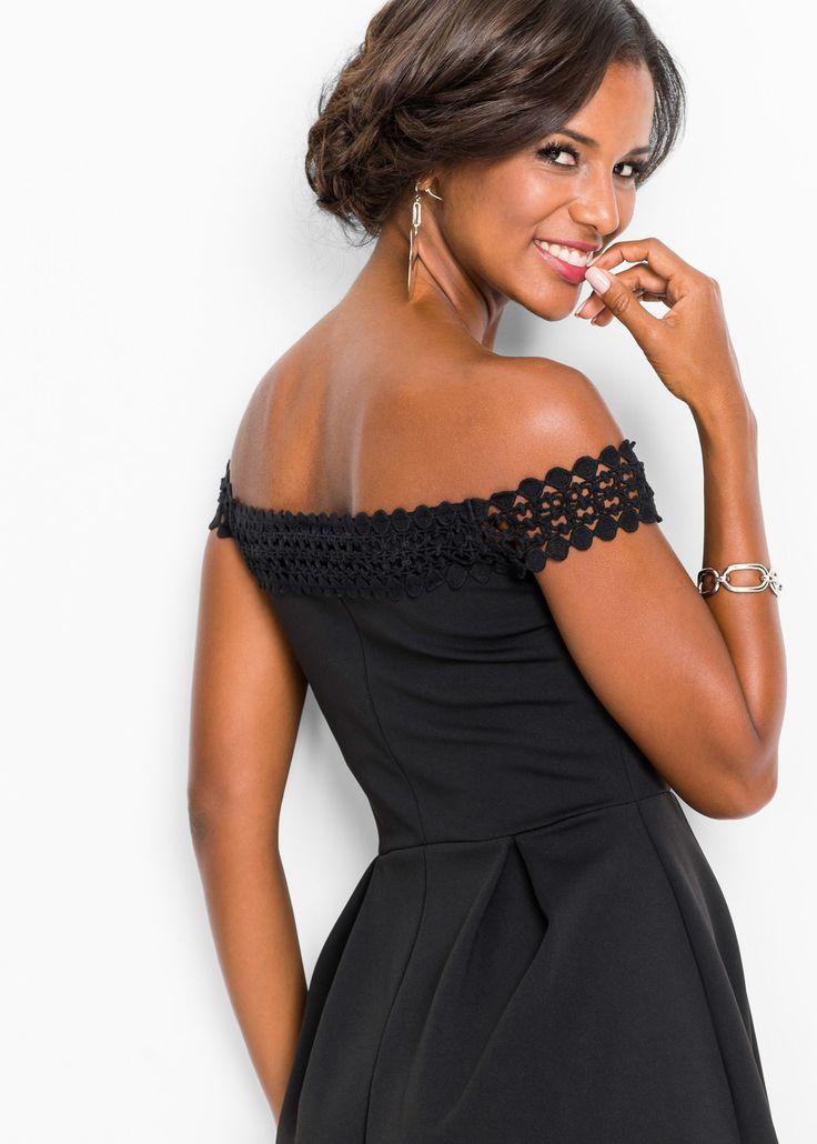 Kleid mit Carmenausschnitt schwarz jetzt im Online Shop ...