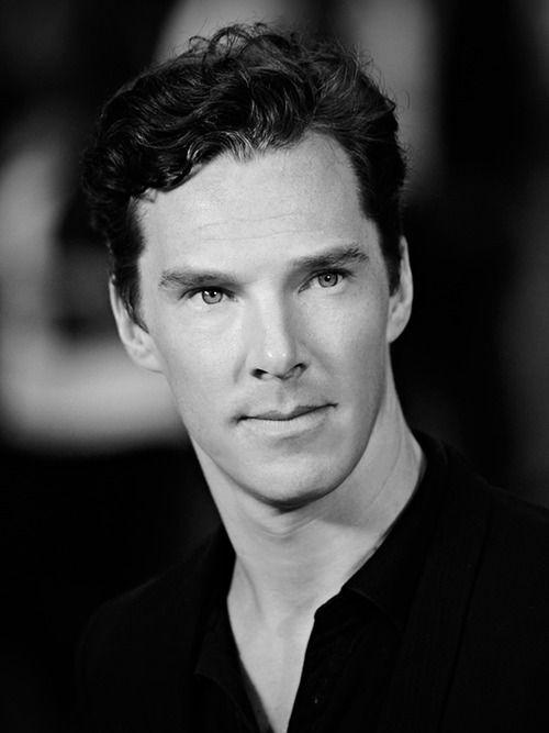 Benedict Cumberbatch - Black  White does him proud.
