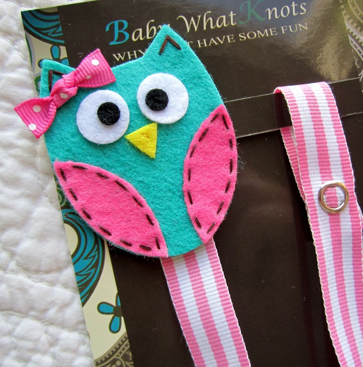 Girl Pacifier Clip Owl Pacifier Clip Blue Owl by babywhatknots