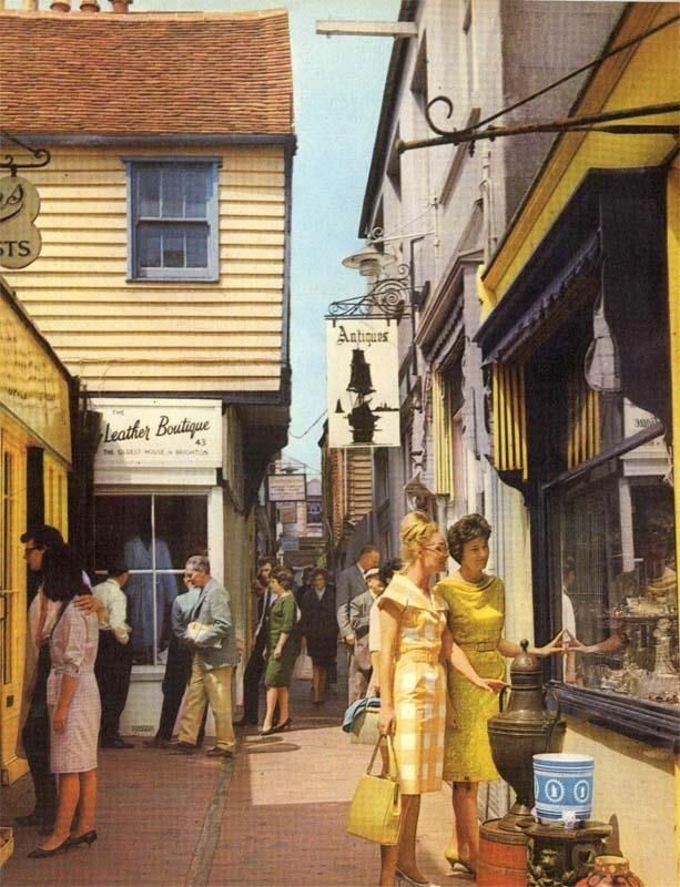 Brighton Lanes in 1965. | 14 Charming Old Photos Of Brighton